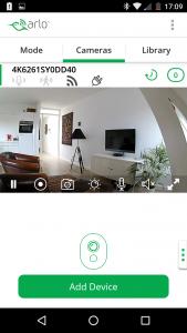 Netgear Arlo Q app screenshot beeldweergave