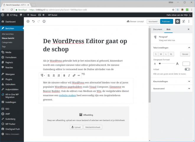 De WordPress Editor gaat op de schop