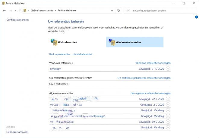Windows 10 Hello en netwerk shares problemen